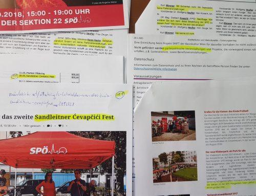 Apropos Parteifinanzierung über Vereins-Konstrukte: Wirbel im Bund, Stille in Wien…